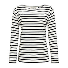 Buy Seasalt Sailor Jersey Top, Ecru/Orca Online at johnlewis.com