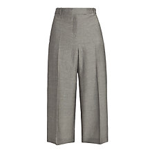 Buy Nicole Farhi Azam Tweed Culottes, Taupe Online at johnlewis.com
