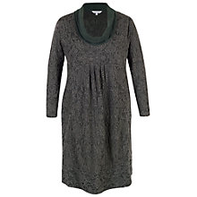 Buy Chesca Baroque Cowl Neck Dress, Charcoal Online at johnlewis.com