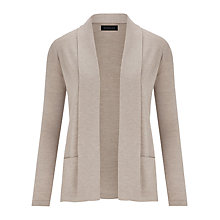 Buy Viyella Short Merino Cardigan, Taupe Online at johnlewis.com