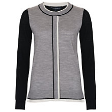 Buy French Connection Tip Off Jumper, Black/Grey Online at johnlewis.com