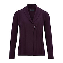 Buy Viyella Shawl Merino Cardigan, Violet Online at johnlewis.com