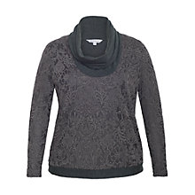 Buy Chesca Baroque Cowl Neck Top, Charcoal Online at johnlewis.com