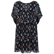 Buy French Connection Printed Yoko Georgette Mini Dress, Black Online at johnlewis.com
