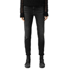 Buy AllSaints Zip Jeans, Washed Black Online at johnlewis.com