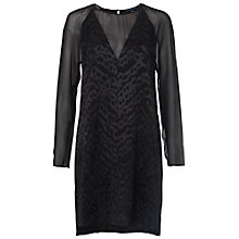Buy French Connection Aria Jacquard Tunic Dress, Black Online at johnlewis.com