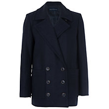 Buy French Connection Milo Melton Peacoat, Utility Blue Online at johnlewis.com