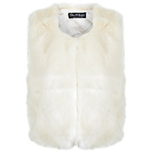 Buy Miss Selfridge Cropped Gilet, Cream Online at johnlewis.com