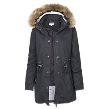 Buy Fat Face Paington Parka, Charcoal Online at johnlewis.com