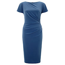 Buy John Lewis Hatty Drape Dress, Blue Steel Online at johnlewis.com