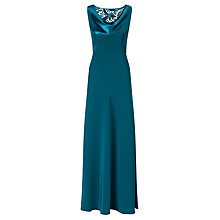 Buy John Lewis Lace Insert Dress, Ocean Green Online at johnlewis.com