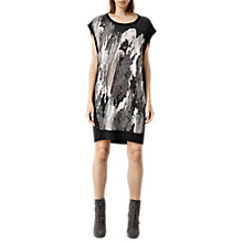 Buy AllSaints Alna Zebu Dress, Cinder Marl Online at johnlewis.com