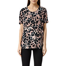 Buy AllSaints Aroma Leo Top, Pink Online at johnlewis.com