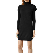 Buy AllSaints Alna Long Sleeve Dress, Cinder Marl Online at johnlewis.com