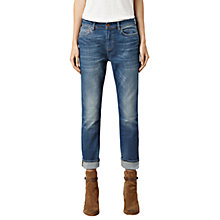 Buy AllSaints Zig Destroy Jeans, Tinted Indigo Online at johnlewis.com