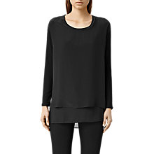 Buy AllSaints Vega Top, Black Online at johnlewis.com
