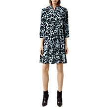 Buy AllSaints Volta Leo Silk Dress, Blue Online at johnlewis.com