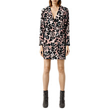 Buy AllSaints Walton Shirt Dress, Pink Online at johnlewis.com
