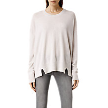 Buy AllSaints Atlas Crew Neck Jumper, Porcelain Online at johnlewis.com