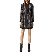 Buy AllSaints Sanko Latice Dress, Bitter Chocolate Online at johnlewis.com