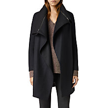Buy AllSaints Axon Coat, Ink Blue Online at johnlewis.com