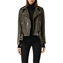 Buy AllSaints Leather Balfern Biker Jacket Online at johnlewis.com