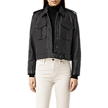 Buy AllSaints Bissel Leather Biker Jacket, Black Online at johnlewis.com