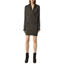 Buy AllSaints Wool Rola Twist Dress, Slate Black Online at johnlewis.com