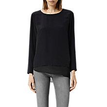 Buy AllSaints Roder Top, Black/Ink Online at johnlewis.com