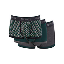 Buy Ted Baker Thomont Trunks, Pack of 3, Green/Grey Online at johnlewis.com