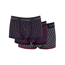 Buy Ted Baker Rokrok Trunks, Pack of 3, Blue/Purple Online at johnlewis.com