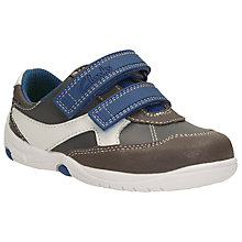 Buy Clarks Children's Pre Walker Ru Cove Shoes, Blue/Grey Online at johnlewis.com