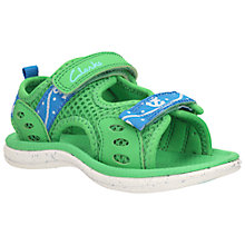 Buy Clarks Children's Piranha Rip-Tape Sandals, Green Online at johnlewis.com
