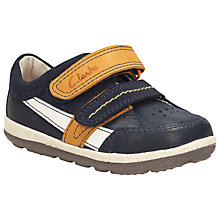 Buy Clarks Children's Tiny Zakk Rip-Tape Pre Walker Shoes, Navy Online at johnlewis.com