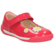 Buy Clarks Children's Little Jam Pre Walker Shoes, Coral Online at johnlewis.com