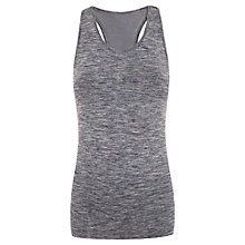 Buy Manuka Seamless Racer Top, Black Melange Online at johnlewis.com