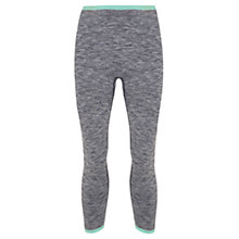 Buy Manuka Seamless Yoga Capris, Black Melange/Mint Online at johnlewis.com