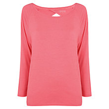 Buy Manuka Tear Drop Long Sleeve T-Shirt, Coral Online at johnlewis.com