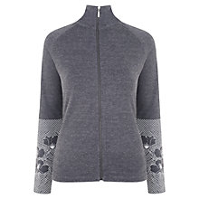 Buy Manuka Botanic Funnel Zip Jacket, Violet Melange Online at johnlewis.com