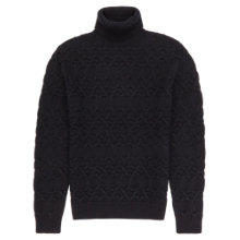 Buy Reiss Jefferson Chunky Roll Neck Jumper, Midnight Online at johnlewis.com