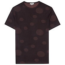 Buy Reiss Strobe Printed Spot T-Shirt, Bordeaux Online at johnlewis.com