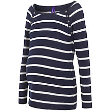 Buy Séraphine Bettina Stripe Matenity Nursing Jumper, Navy/White Online at johnlewis.com