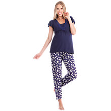 Buy Séraphine Sweet Violet Maternity and Nursing Pyjamas, Purple Online at johnlewis.com