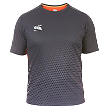Buy Canterbury of New Zealand VapoDri Poly Graphic T-Shirt, Grey/Orange Online at johnlewis.com