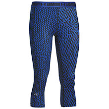 Buy Under Armour HeatGear Armour Printed Capri Tights, Cobalt Blue Online at johnlewis.com