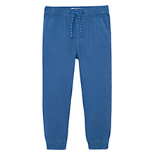 Buy Mango Kids Boys' Cotton Trousers, Turquoise Online at johnlewis.com