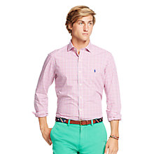Buy Polo Ralph Lauren Slim Fit Shirt, Pink/Green Online at johnlewis.com