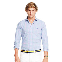 Buy Polo Ralph Lauren Long Sleeve Check Shirt, Blue/Pink Online at johnlewis.com