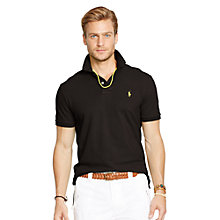 Buy Polo Ralph Lauren Short Sleeve Polo Shirt, Polo Black Online at johnlewis.com