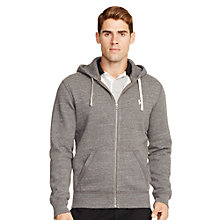 Buy Polo Ralph Lauren Hooded Jersey Top, Heather Online at johnlewis.com